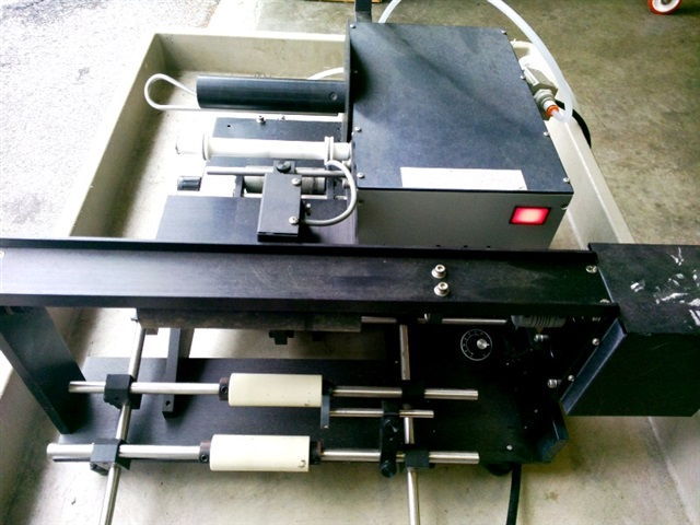 Autolabe Table-Top Semi-Automatic Wrap Around P/S Labeler-M#550