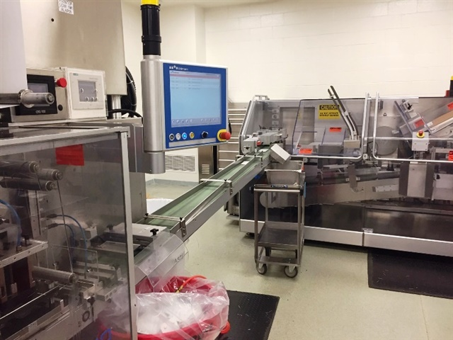 Uhlmann Model B1240 High Speed Blister Machine w/ Integrated Model C2155 Cartoner