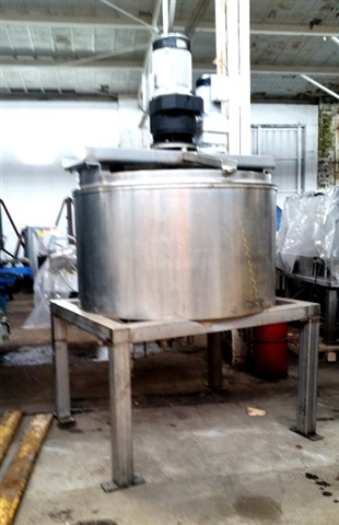 Pardo 300 Gal. S/S Kettle with Dual Action Scrape Surface Agitation.