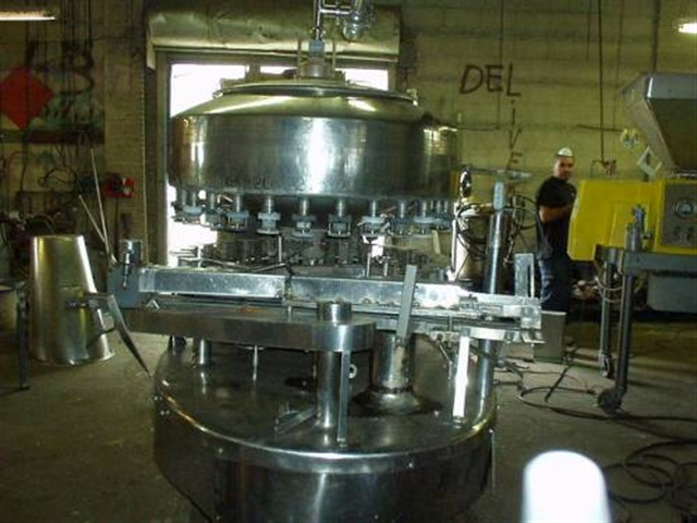 Cemac 24 spout automatic gravity filler,